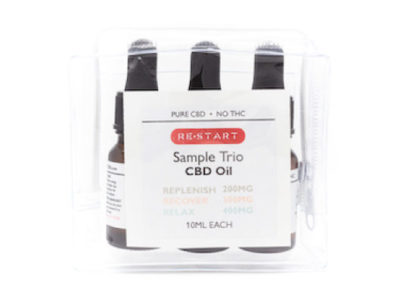 RESTART CBD Pure CBD Oil Sample Trio